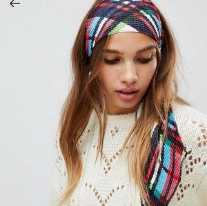 ASOS check headband/scarf